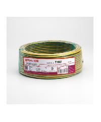RACER สายไฟ IEC01 THW 1x2.5 Sq.mm100M.สีเขียวเหลือง  - สีเขียว