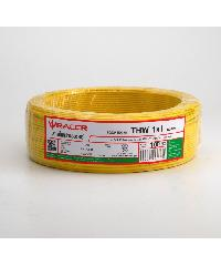 RACER สายไฟ IEC05 IV 1x1 100M YELLOW