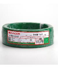 RACER สายไฟ IEC 05IV 1x1 100M สีเขียว