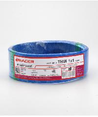 RACER สายไฟ THW 1x1 30M สีฟ้า สีฟ้า