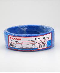 RACER สายไฟ IEC05 THW 1x 1 50M สีฟ้า