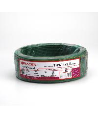 RACER สายไฟ IEC 05 THW 1x2.5 30M สีเขียวแถบเหลือง