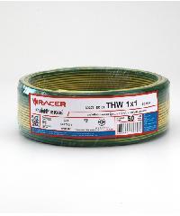 RACER สายไฟ Thw 1x1 50M Green/Yellow