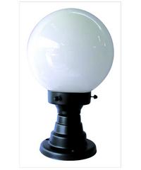 The Sun โคมไฟหัวเสากลมถ้วย 8 นิ้ว แก้วกลม  PA8/1-B ดำ