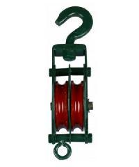 EAGLE ลูกรอกเขียวคู่ 4 นิ้ว TSK สีเขียวขี้ม้า