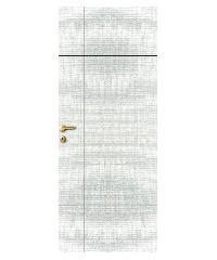 LEOWOOD ประตู ลาย 04 - Silver  ขนาด 35x800x2000 iDoor S6 สีเทาอ่อน