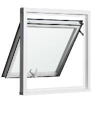 EZY WINDOW หน้าต่างบานกระทุ้ง 400*600 J-Trus สีขาว