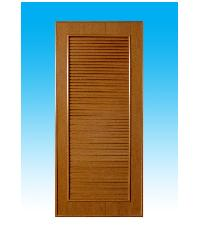 CHAMP ประตู PVC 70x180 ซม. ไม่เจาะ สีลายไม้สัก    P5