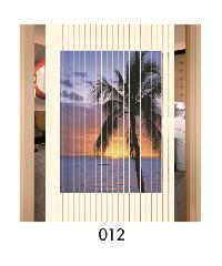 WSP มู่ลี่ประตูสกรีนตรงกลาง ภาพวิวธรรมชาติ 80x200cm. TK-32/012