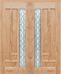 WINDOOR ประตู-กระจก พีระมิด Com6 สนNz 90x200  -