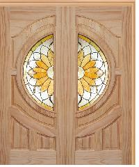 WINDOOR ประตู+กระจก SUN FLOWER Com6 สนNz 100x200 -