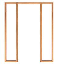 WINDOOR วงกบประตูไม้เต็งแดง  Com 3 80x200ซม.