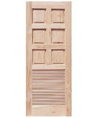 WINDOOR ประตูลวดลาย สนNz 80x200 L138 สีเหลือง