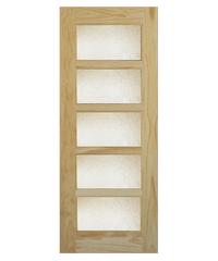 WINDOOR ประตู-กระจก L 145 เหลืองอมขาว