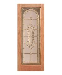 WINDOOR ประตู-กระจก ขนาด 80x200 ซม. WD-100 น้ำตาลชมพู