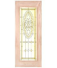 WINDOOR ประตู+กระจก สนNz 80x200 CCS สีเหลือง