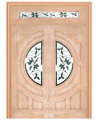 WINDOOR ประตู+กระจก สนNz 80x200 GLARING GREEN Com14  สีเหลือง