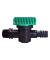 Super Products วาล์วเกลียว 3/4 นิ้ว สำหรับท่อพีอี 25 มม. LV 34 PE ดำ-เขียว