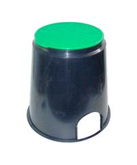 Super Products กล่องวาล์วไฟฟ้าทรมกลม 4 นิ้ว VB R ดำ