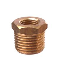 Super Products ข้อต่อเกจทองเหลืองเกลียวนอก 1/4นิ้ว-1/2นิ้ว GC M