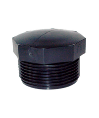 Super Products ปลั๊กอุดเกลียวนอก 1/2 นิ้ว (2 ตัว / แพ็ค) EPM ดำ