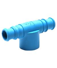 Super Products ข้อต่อสามทางพีวีซี-พีอี3/4 นิ้ว x 25 มม.  (5 ตัว/ แพ็ค) TM PVC ฟ้า