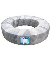"Super Products ท่อ LDPE  แรงดัน2 ขนาด 20 มม.200 ม.คาดขาว(1/2"") สีดำ"