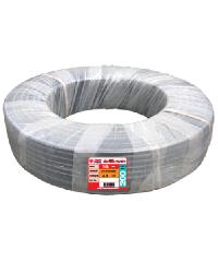"""Super Products ท่อ LDPE  แรงดัน4 ขนาด 16 มม.100 ม.คาดส้ม(3/8"""") สีดำ"""