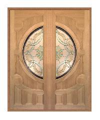 MAZTERDOOR ประตูกระจกไม้เนื้อแข็ง ขนาด (100x200) vanda-02