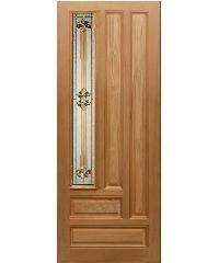 MAZTERDOOR ชุดบานกระจกไม้จาปาร์ก้า (50x200) Jasmine-04