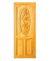 Masterdoors ประตูไม้สยาแดง บานทึบลูกฟักแกะลายดอกไม้  G968 90x200cm.