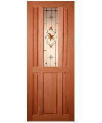 MAZTERDOOR ประตูกระจกสยาแดง ขนาด 100x200cm. SS-01/2