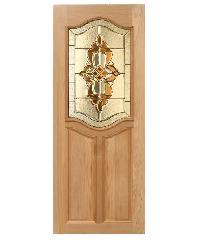 MAZTERDOOR ประตูกระจกไม้สัก ขนาด 100x200  GENUS-02