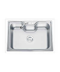 TECNOGAS อ่างล้างจาน 1หลุม  Sink TNS 10700 SS สแตนเลส