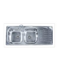 TECNOGAS อ่างล้างจาน 2 หลุม 1ที่พัก Sink TNP 120 แสตนเลส