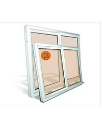 Wellington หน้าต่างไวนิล UPVC  บานเลื่อน กระจกสีชา พร้อมมุ้ง SS 1x1.2 ม.