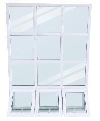 Wellingtan หน้าต่างโถงบันได อลูมิเนียม  WFAW149200 149x200cm.  สีขาว