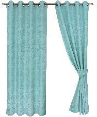 Davinci ม่านประตูพิมพ์ลาย A70114#3D สีฟ้า
