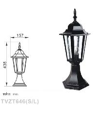 V.E.G โคมไฟหัวเสา TVZT646 สีดำ