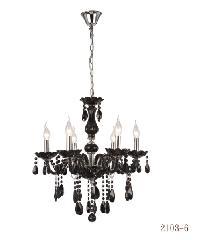 V.E.G โคมไฟคริสตัล 2103-6 สีดำ