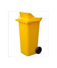 ถังขยะฝาสวิง  240ลิตร  XDL240A9Y สีเหลือง