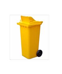 ICLEAN ถังขยะฝาสวิง 120 ลิตร XDL-120A-3Y 120L สีเหลือง