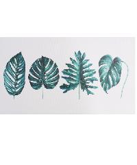 NICE รูปภาพพิมพ์ผ้าใบ Plant ขนาด  90x50ซม. (ก.xส.) (ใบไม้ชนิดต่างๆ) C9050-3