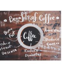 NICE รูปภาพพิมพ์ผ้าใบ Coffee Shop ขนาด 60x40ซม. (ก.xส.) (ฺBenafits of coffee) C5040-4