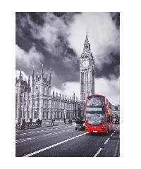 NICE รูปภาพพิมพ์ผ้าใบ 50x70 ซม. (ก.xส.)(ถนนในกรุงลอนดอน) View C5070-4