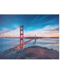 NICE รูปภาพพิมพ์ผ้าใบ 70x50 ซม. (ก.xส.) (สะพานข้ามแม่น้ำ) View C7050-1