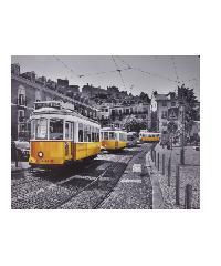 NICE รูปภาพพิมพ์ผ้าใบ 94x76 ซม. (ก.xส.) (รถบัสสีเหลือง)  View C9476-2