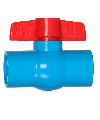 VAVO บอลวาล์วพีวีซี แบบสวม  1/2นิ้ว สีฟ้า
