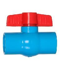 VAVO บอลวาล์วพีวีซี แบบสวม  1นิ้ว สีฟ้า