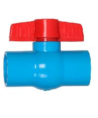 VAVO บอลวาล์วพีวีซี แบบสวม  2นิ้ว สีฟ้า